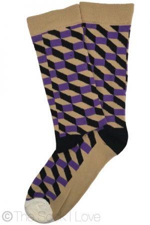 Punky Purple Pattern socks