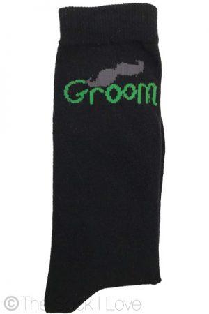 Green Groom Wedding socks