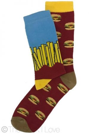 Burger and Chips socks (2 pairs)