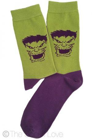 Hulk Superhero socks
