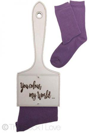 Purple Paintbrush socks