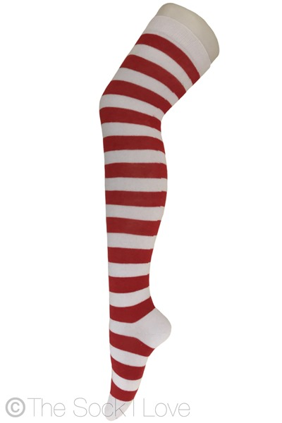 Red Elf Thigh High socks