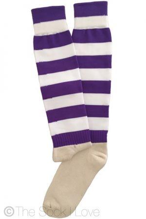 Field Sport socks Purple White
