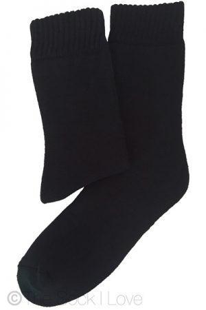 Black Towelling Boot socks
