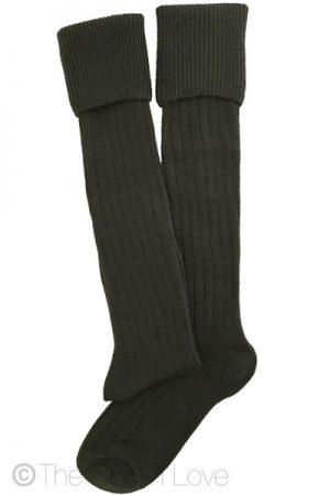 Khaki Green Golfhose socks