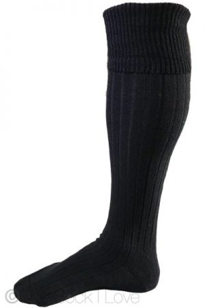 Black Golfhose socks