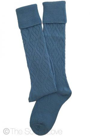 Sky Blue Golfhose socks