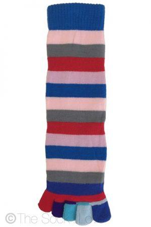 Blue Storm Toe socks