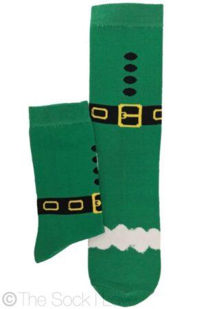 Green Christmas socks