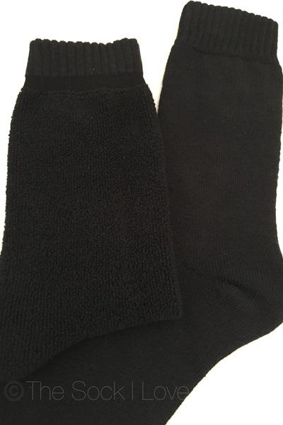 Black Towelling socks
