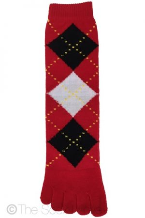 Argyle Red Toe socks