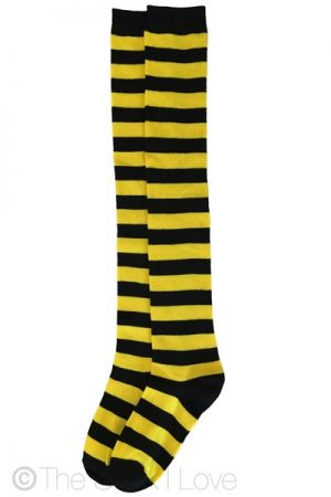 Yellow Bee Thigh High socks