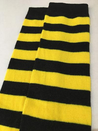 Yellow Bee Thigh High socks