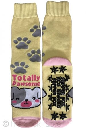 Yellow Pawsome Non Slip socks