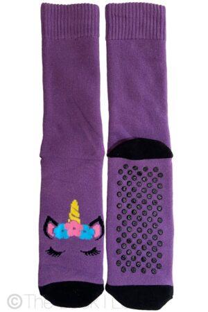 Purple Unicorn Non Slip socks
