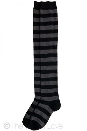 Grey Crossing Thigh High socks - NTHJ4013