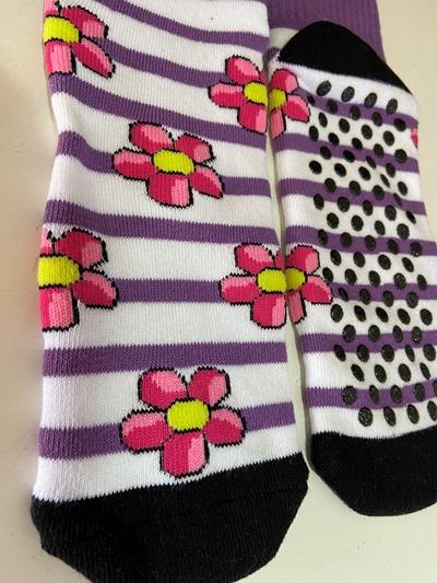 Pink Flower Non Slip socks