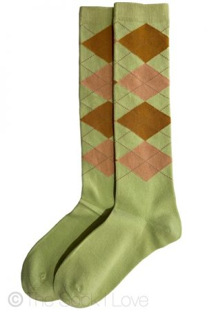 Autumn Argyle Knee High socks
