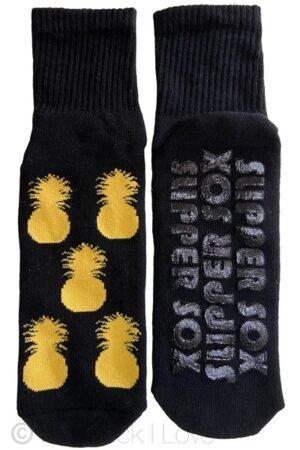 Black Pineapple Non Slip socks