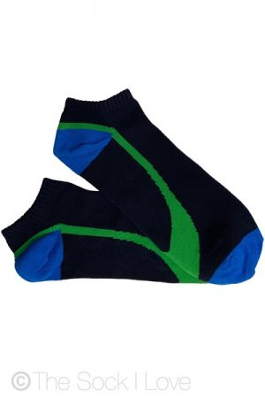 Ankle Black Lime socks