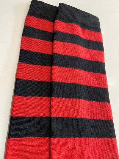 Red Krueger Thigh High socks