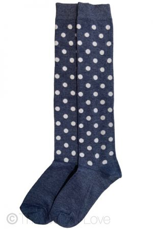Denim Dotty Knee High socks