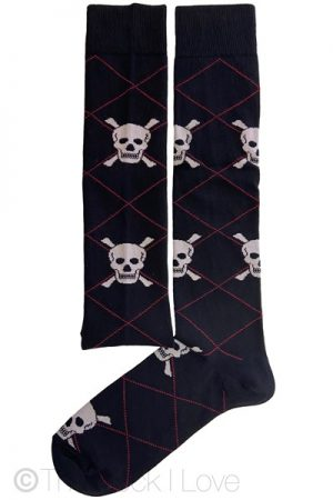 Black Skull Knee High socks