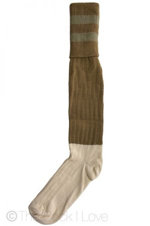 Khaki Brown Golfhose socks