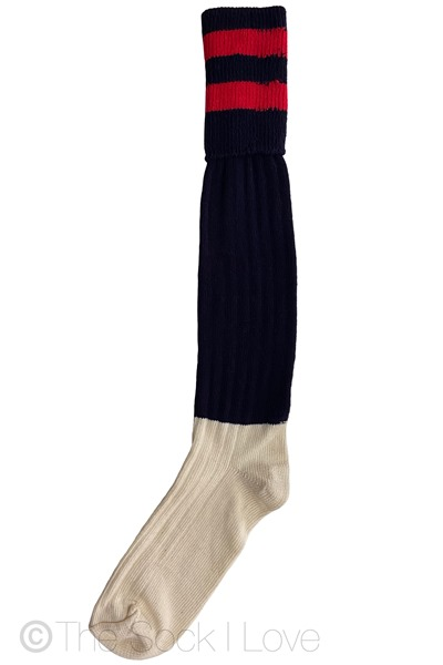 Red Navy Golfhose socks