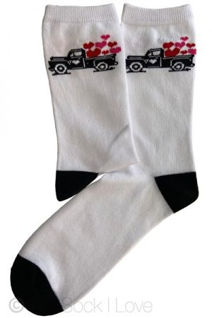 White Love Truck socks
