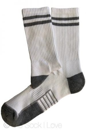 Grey Striped Sport socks