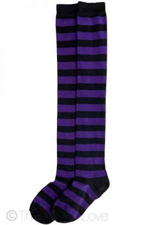 Deep Purple Thigh High socks