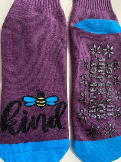 Bee Kind Non Slip socks