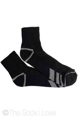Black Quarter Cushion socks
