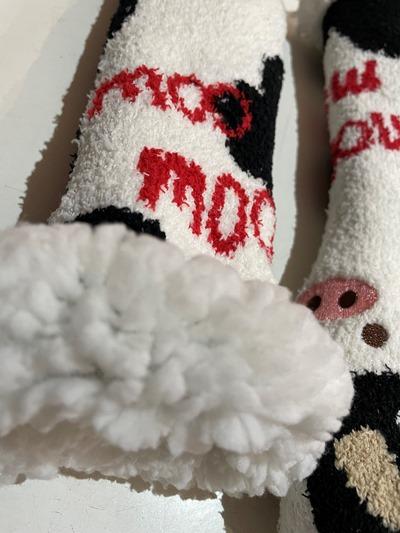 Fluffy Moo Winter Bedsocks
