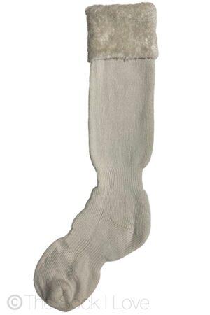White Eskimo Knee High socks