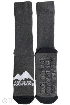 Grey Mountains Non Slip socks